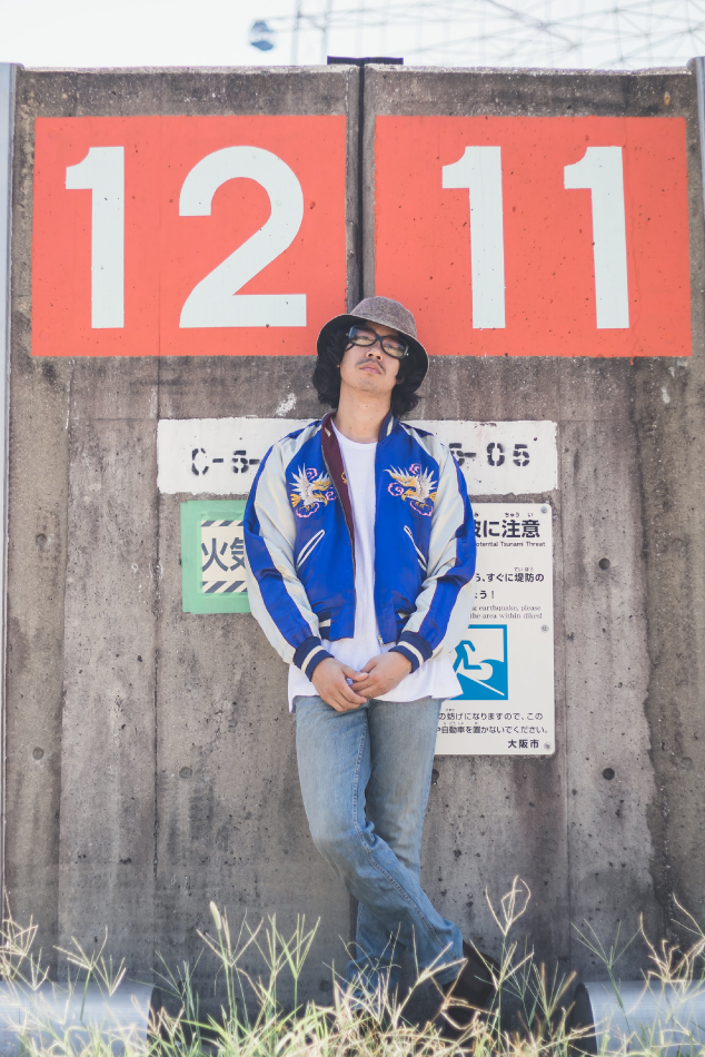 50s REVERSIBLE SOUVENIR JACKET KOREA 古着コーデ3